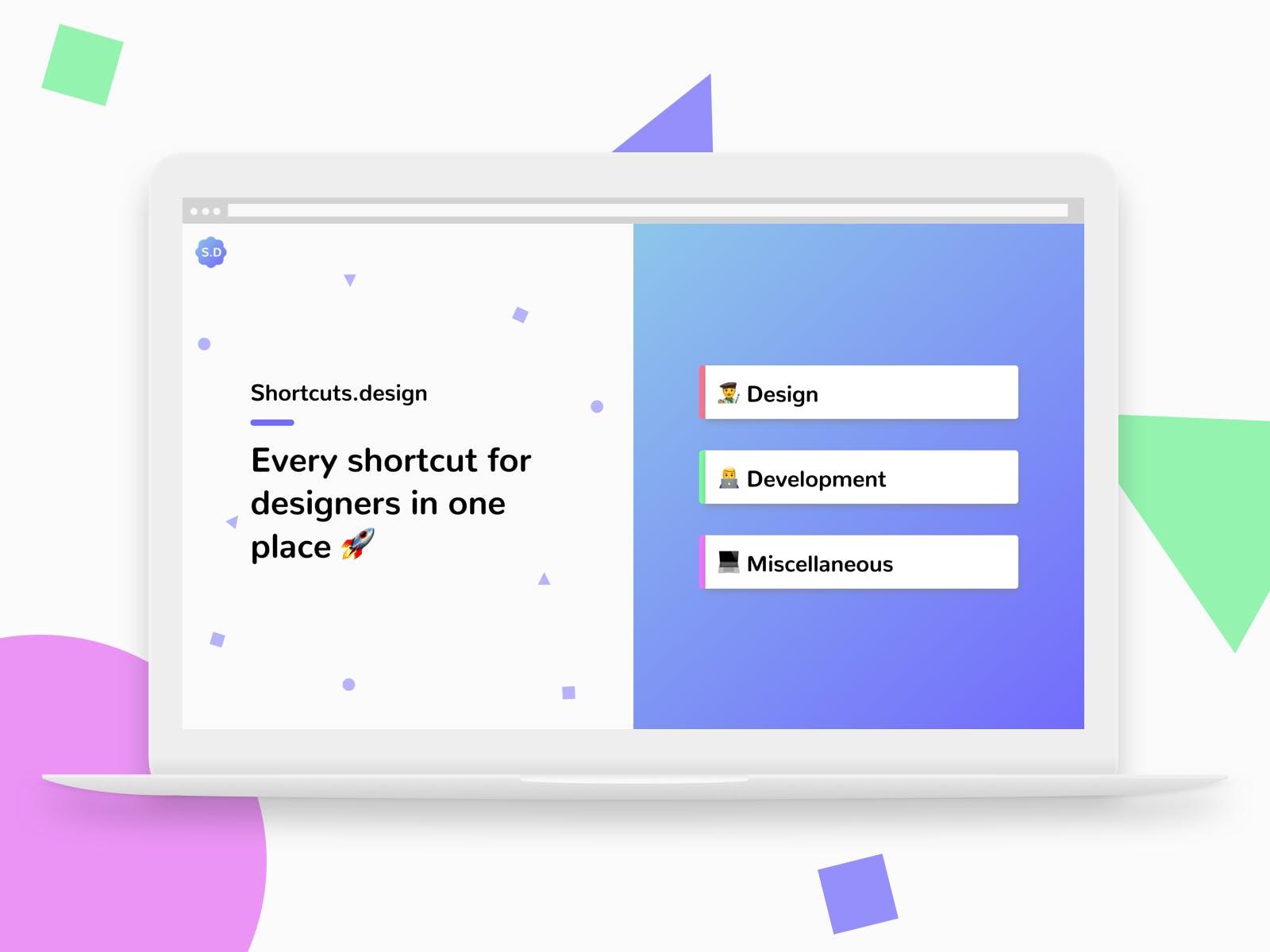 Shortcuts Designer - Tasarımcılar İçin Uygulama Kısayolları 1