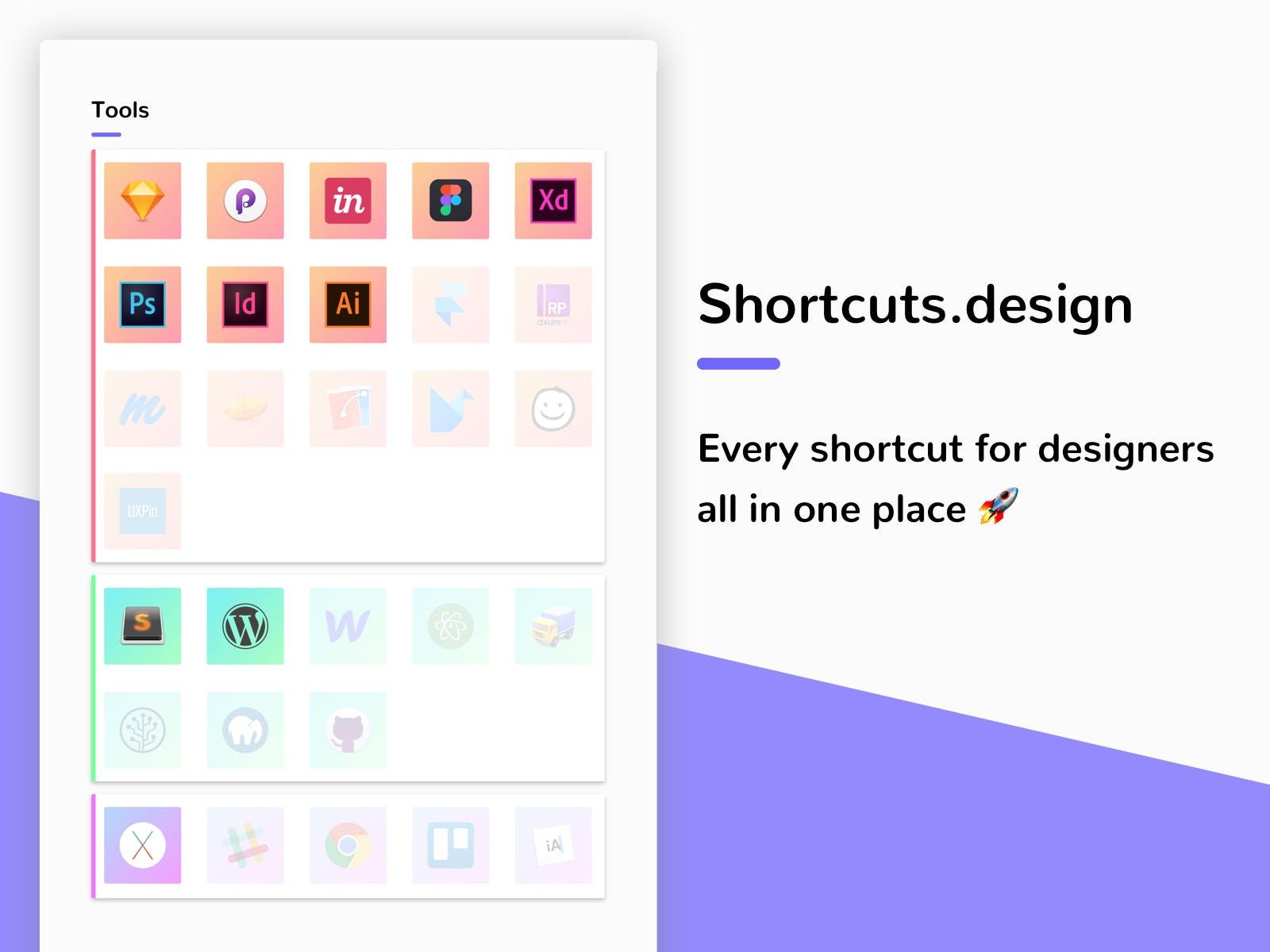 Shortcuts Designer - Tasarımcılar İçin Uygulama Kısayolları 3